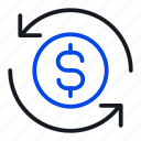 finance, payment, process icon