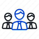 business, employees, team icon