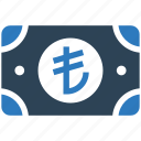 business, cash, financial, lira, money, payment icon
