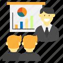 business, finance, money, presentation, work icon