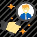 business, finance, money, recruitment, work icon