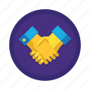 agreement, business, collaboration, contract, deal, handshake, partnership icon