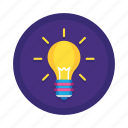 brainstorm, bulb, creative, electric, electricity, energy, idea, lamp, light, lightbulb icon