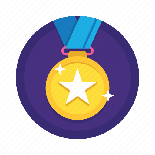 achievement, award, badge, gold medal, medal, medallion, prize, reward, winner icon