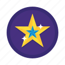 award, badge, favorite, gold star, rating, star icon