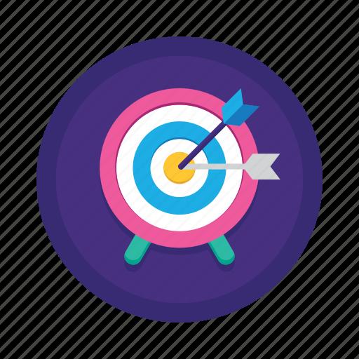 adapt, archery, arrow, goal, objective, proactive, target market icon