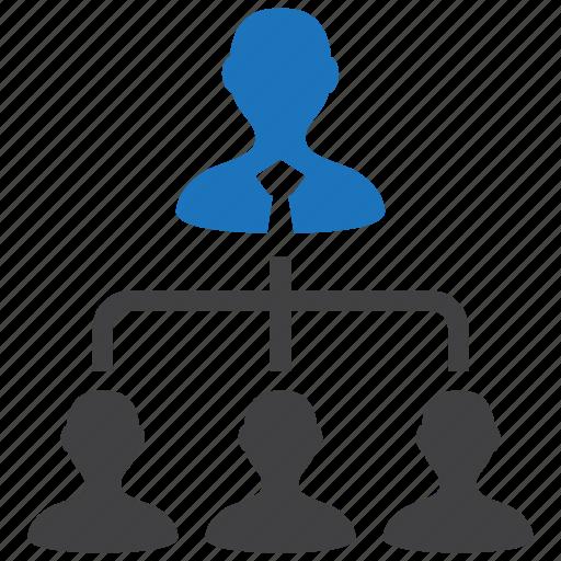 hierarchy, management, organization, structure, team icon