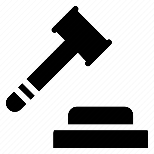 business, construction, court, crime, hammer, judge, law icon