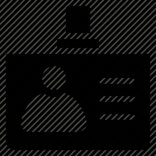 employee, id, idcard, identification, identity, person, profile icon