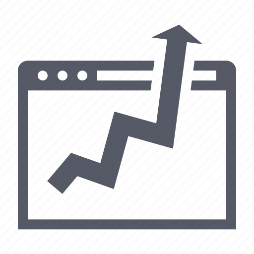 business growth, graph, web analytics icon