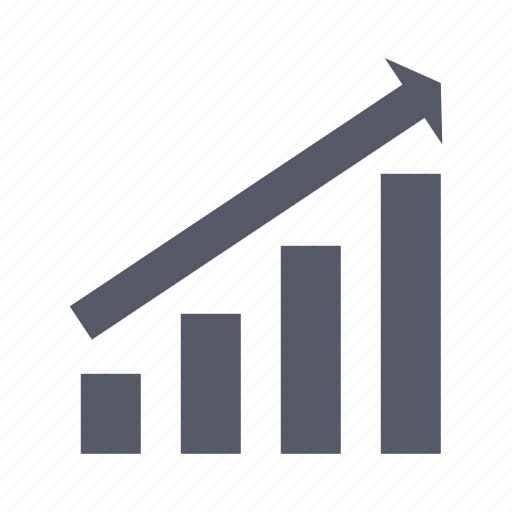 business growth, chart, graph icon