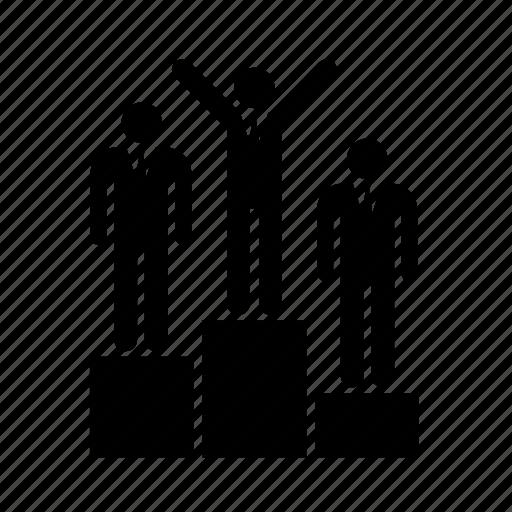 business, businessman, office, podium, winner, work, worker icon