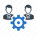 business, gear, manage, manager, team, teamwork icon