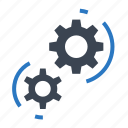 business, gear, setting, teamwork, work, working icon