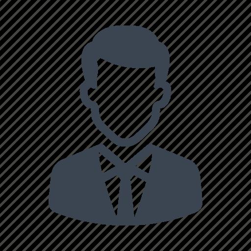 avatar, businessman, man, office, user icon