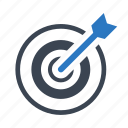 archery, bullseye, business, hit, success icon