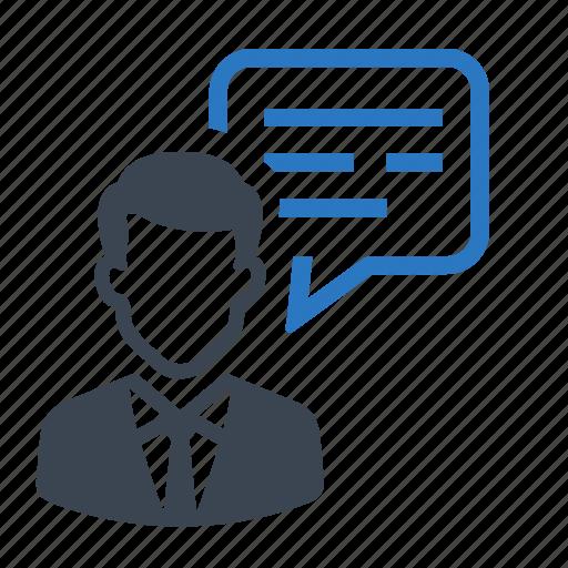business, businessman, chat, communciation, messages icon