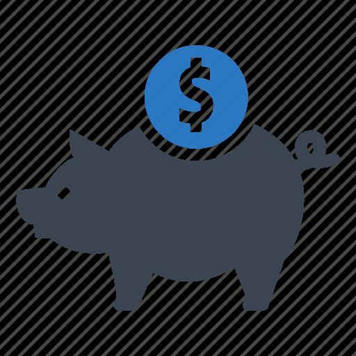 bank, coin, money, pig, profit, savings icon