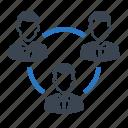management, social, team, teamwork icon