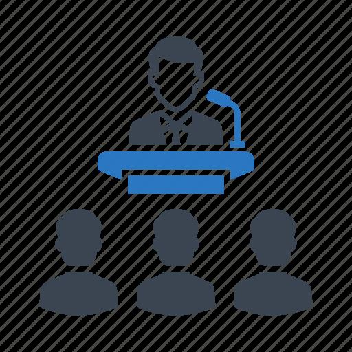 collaboration, election, meetings, presentation, speech icon