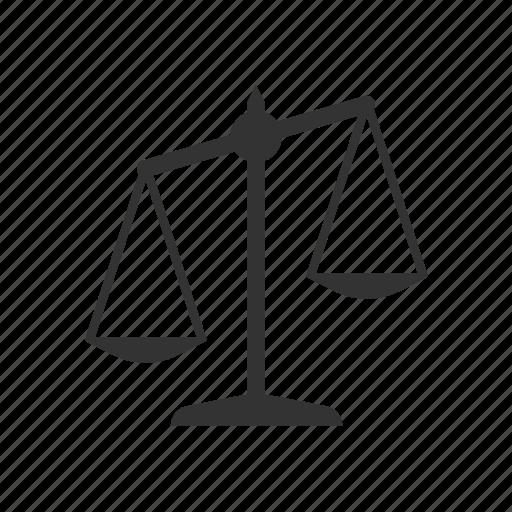 law, libra, scale icon