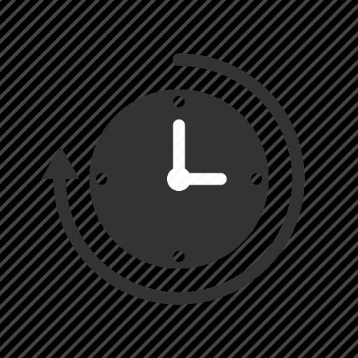 arrow, clock, history icon