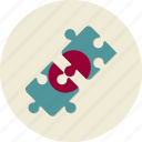 business, cooperation, finance, partners, puzzle, solution, task icon