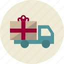 car, delivery, present, truck, gift, shipping, transportation
