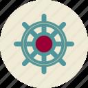 helm, management, personnel management, wheel icon