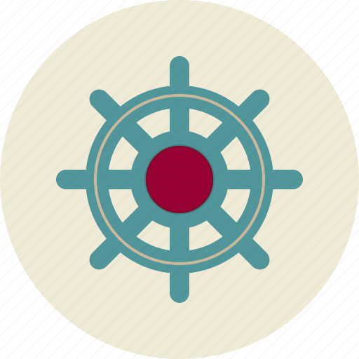 helm, management, personnel management, wheel icon