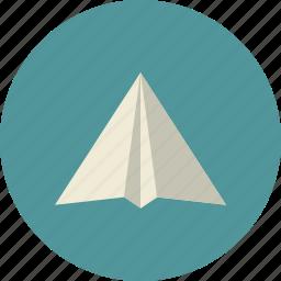 business, company, origami, paper, plane, reputation icon