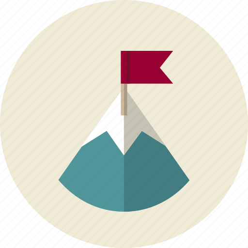 business, flag, mountain, strategy, victory icon
