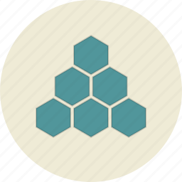 business, cells, company, honeycomb, structure icon