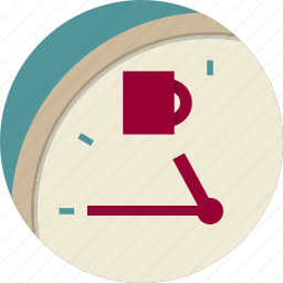 arrow, break, clock, coffee, cup, dial icon