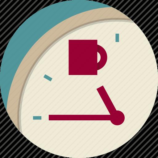 Arrow, break, clock, coffee, cup, dial icon | Icon search ...