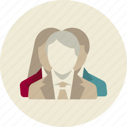 business man, business woman, group, people, staff, team, users icon