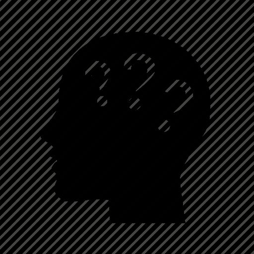 faq, head, help, problem, questions, quiz, trouble, why icon