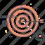 arrow, bulls eye, gear, success, target icon