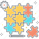 choice, commerc, jigsaw, piece, problem, puzzle, teamwork icon