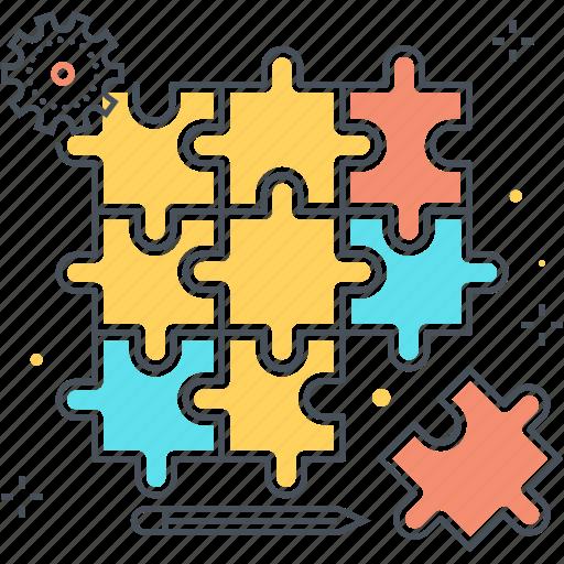 choice, commerc, jigsaw, piece, problem, puzzle, teamwork icon