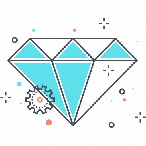clean code, diamond, jewel, premium quality icon