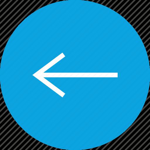 arrow, back, online, seo icon