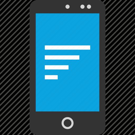 bars, data, phone, seo icon