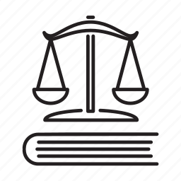 book, business, justice, law, scales of justice icon