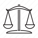business, court, justice, law, scales of justice icon