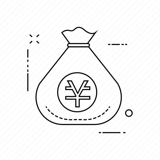 bag, currency, saving, yen icon