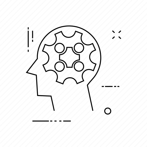 brain, head, mind, setting icon