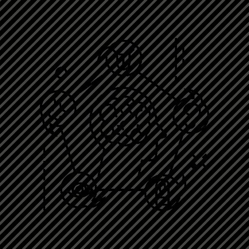 brain, head, mind, user icon