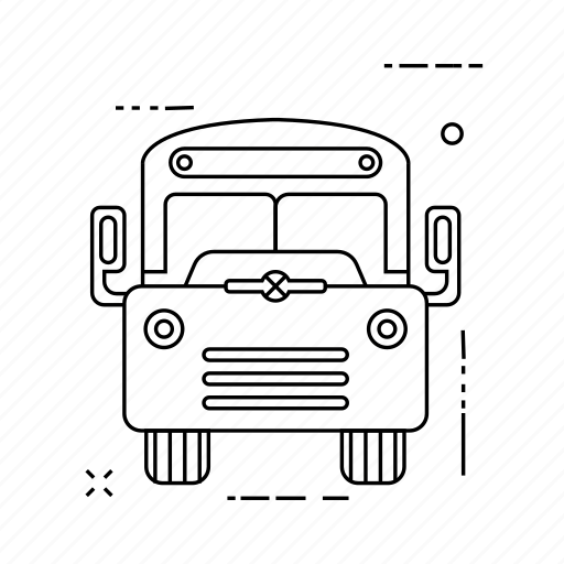 automobile, bus, transport, vehicle icon