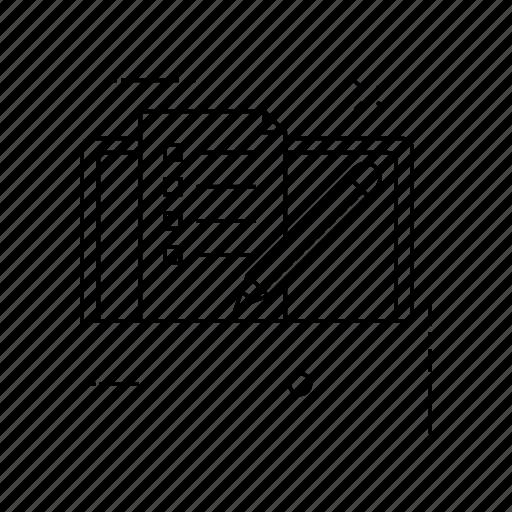 checklist, edit, page, pencil icon